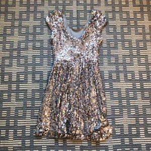 NWT rue21 Silver Sequin Mini Dress